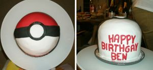 Pokeball cake by thesearejessicakes