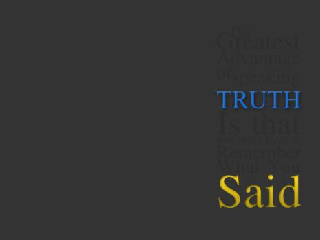 advantage of speaking Truth by 9784029869