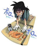 Kaiji lost beer and chicken by Gashi-gashi
