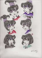Sketches of Lydia Deetz by Kiyomi-chan16