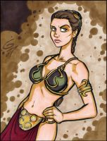 Another Slave Leia Commission by grantgoboom