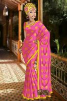 Charlotte In Pink Sari by AnneMarie1986
