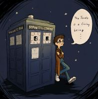 The Tardis is a living being... by Racuun