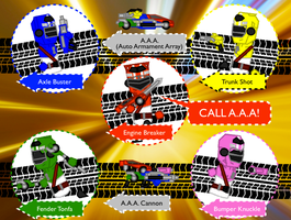 Accel Sentai Auto-V: CALL AAA! by Sentaibrave