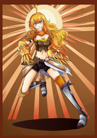 Knight of Rising Sun: Yang Xiao Long by ARSONicARTZ
