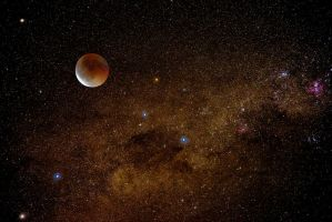 Astro photography with real image of eclipse by Leeveye