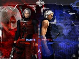 Twins Dante-Vergil by Rely