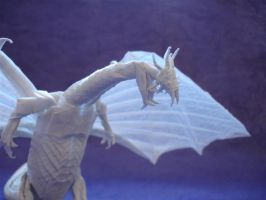 Origami Zoanoid Dragon head by origami-artist-galen