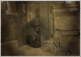 monster in the attic post card by TeapotMysteries