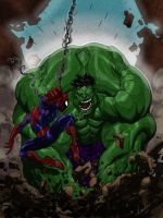 SPIDEY VS HULK colors by CThompsonArt