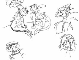 Skylanders OC Team sketches by ShardianofWhiteFire
