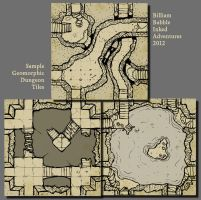 Inked Adventures Geomorphic Dungeon Tiles by billiambabble