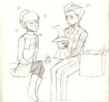 Day two of my 25 OTP til Christmas: Minako xTheo by Black-Angel-of-Mercy