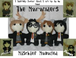 The Marauders -Plushies- by calceil