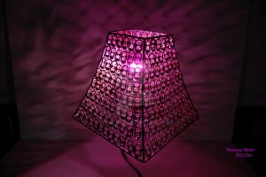 Lamp Shade With Lights On by Thereysa