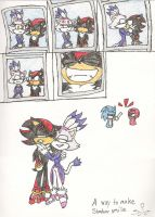A way to make Shadow smile by Safarithecat
