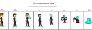 Pokeumans progression meme example-Paul the Ditto by LRpaul