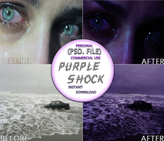 Purple Shock Photoshop Action Resources Premium by thinminmeg