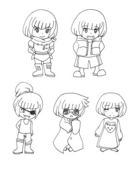 Frisk cosplaying by costa17