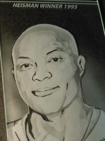 Art Glass Etching Close Up for Eddie George Window by ImaginedGlass