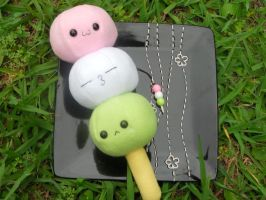 Dango Plushie and Charm by Love-Who