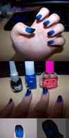 Eyeless Jack Themed Nails by GingaAkam