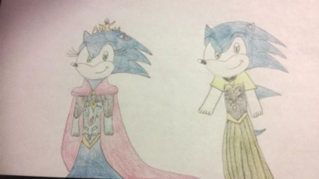 Queen Sophia and Prince Sonic by Sonicsugarhog23