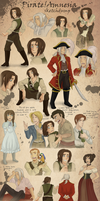 Pirate!Amnesia Sketchdump by AngelQueen13