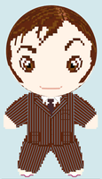 10th Doctor Who Cross Stitch Doll Pattern by rhaben