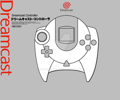 Sega Dreamcast Controller Design (Grey) by Hardak666