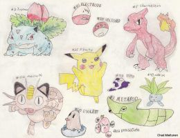 My Pokemans by bluefire4000