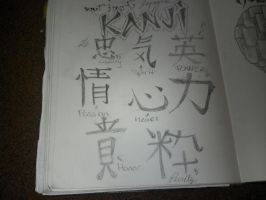Kanji sketches by Toast007