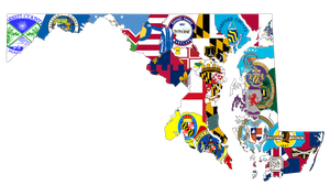 Maryland County Flags Map by Coliop-Kolchovo