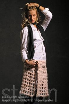 pink modal as skirt by ObscureRelevance