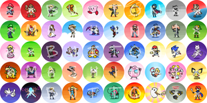 SUPER SMASH BROS BUTTONS by Nami-Tsuki