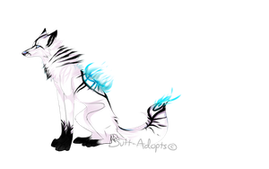 White Fire Wolf AUCTION -CLOSED- by Butt-adopts