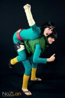 Piggyback ride! _ Rock Lee and Gai Sensei - Naruto by KellywoeshxD