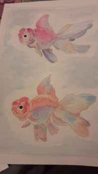 goldenfish watercolor  by TattooLady89