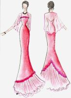 Evening 1, Scarlet Gown remade by lilly-anne