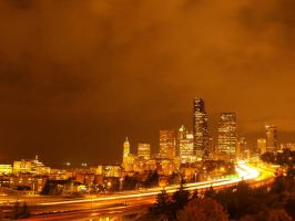 seattle night by crazytmac