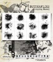 Artsy Butterflies Clipping Masks by Diamara