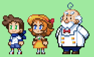 Sprite Practice Characters by The-Knick