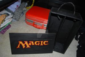 Full Finished Magic Card Box by Wakeuphatesgirl