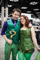 Indiana Comic Con Riddler and Ivy by SirKirkules