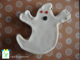 Halloween Ghost Cookie by SugiAi