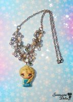 Disney Frozen Elsa Necklace by SentimentalDolliez