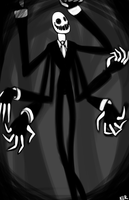 The Slender Man by WarpedWonderland