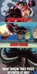 One Piece: Gear 4th Luffy v.s. Kaido Meme by LilyandJasper