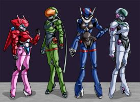 Bubblegum Crisis - Hardsuits by DaStigy
