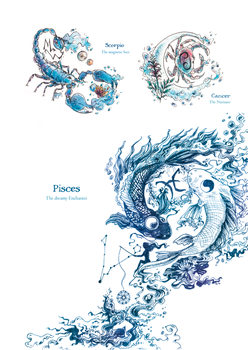 The Zodiacs - Water Signs by Fayven